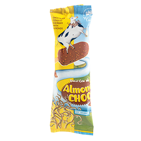 Roomijslolly almond choc
