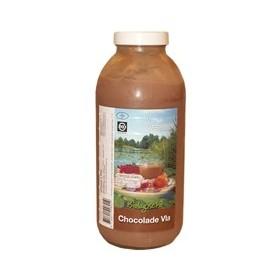 Chocoladevla fles