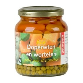 Doperwten met wortel in...